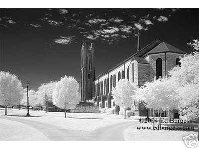 """Lois Perkins Chapel"" Infrared Spiritual Photo Southwestern University Chapel"