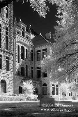 """Roy and Lillie Cullen Building #1""  Infrared Southwestern University Cullen Fine Art"