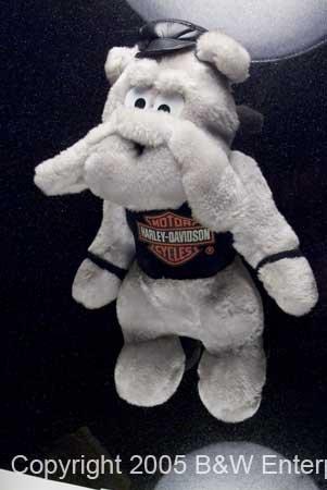 Harley Davidson Motorcycle Harley Hound Stuffed Plush Doll w Black tee