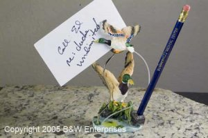 Duck Pencil & Note Holder New in Box Ducks Unlimited Executive Desk Decoration