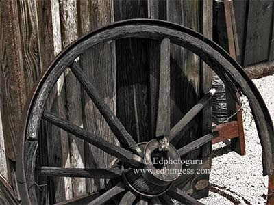 """Broken Spoke"" Southwestern Broken Wagon Spoke Tucson Arizona Photo"