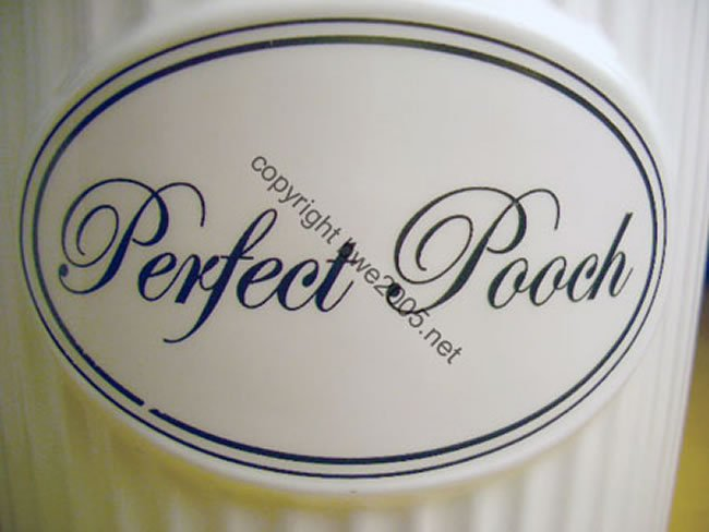 Perfect Pooch Ceramic Treat Jar + 24 Ounces of High Quality Treats Included