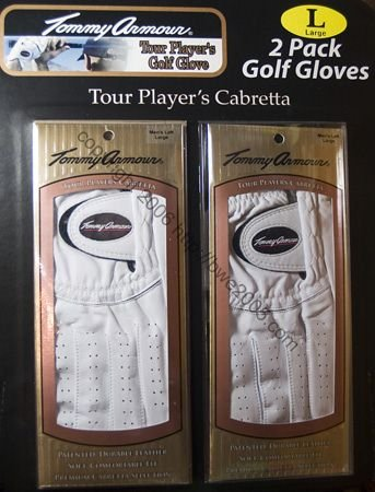 Golf Glove TOMMY ARMOUR Tour Player's Cabretta Men's medium left set of 2 NIB