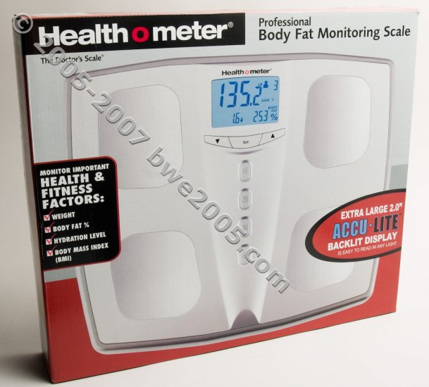 Health o Meter Sunbeam Scales Body Weight Fat % Hydration BMI 4 Users NIB