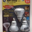 Fluorescent Bulbs GE 3-Pack 15 Watt R-30 Floodlight bulbs with 65 watt Output Save Electricity NIB