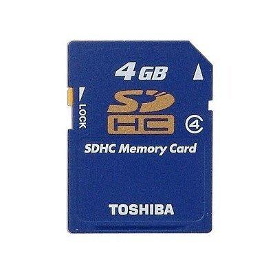 Toshiba 4GB High Speed SDHC Memory Card (NIB) Camera MP3 Computor Video Music Backup