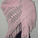 hand crochet pinkshawl,free shipping