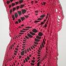 hand crochet rose shawl,free shipping