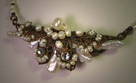 Handmade Necklace Baroque Pearl Necklace by J. Wass Designer Jewelry