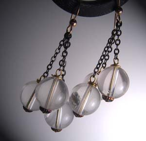 Rock Crystal Dangle Drop Earrings by J. Wass Designer Jewelry