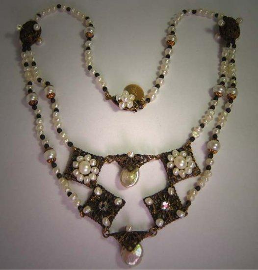 Festoon Style Pearl Necklace by J. Wass Designer Jewelry