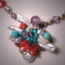 Handmade Gemstone Pearl Necklace by J. Wass Designer Jewelry