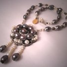 Black Pearl Necklace by J. Wass Designer Jewelry