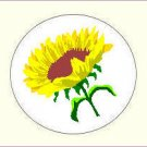 Round Flower Envelope Seals - Choose Your Graphic & Size