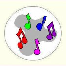 Round Music Envelope Seals - Choose Your Graphic & Size