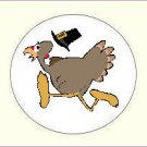 Round Thanksgiving Envelope Seals - Choose Your Graphic & Size