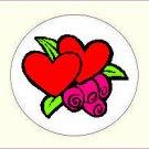 Round Valentine's Day Envelope Seals - Choose Your Graphic & Size