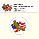 """60 4th of July Address Labels & 60 - 1.5"""" Envelope Seals - Choose Your Graphic"""
