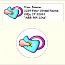 "90 Birth of Baby Address Labels & 96 - 1.2"" Envelope Seals - Choose Your Graphic"
