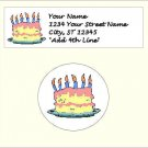 """60 Birthday Address Labels & 63 - 1"""" Envelope Seals - Choose Your Graphic"""