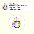"""60 New Year Address Labels & 63 - 1"""" Envelope Seals - Choose Your Graphic"""