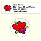 "60 Valentine Address Labels & 63 - 1"" Envelope Seals - Choose Your Graphic"