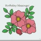 #M4U0518 Christian Happy Birthday Greeting Card