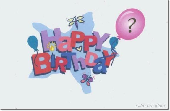 #M4U0214 Happy Birthday Greeting Card to a Child