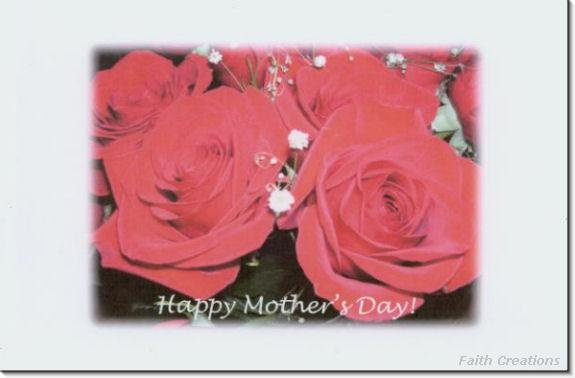 #M4U0114 Happy Mother's Day Greeting Card