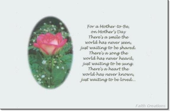 #M4U0120 Happy Mother's Day Greeting Card to Mother to Be