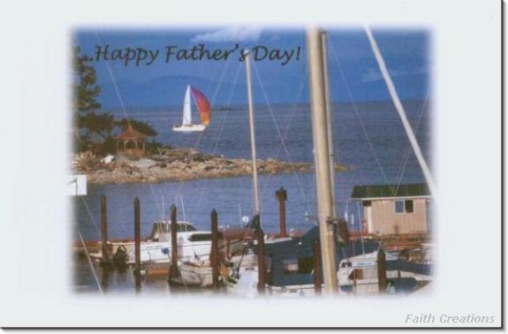 #MU0173 Happy Father's Day Greeting Card