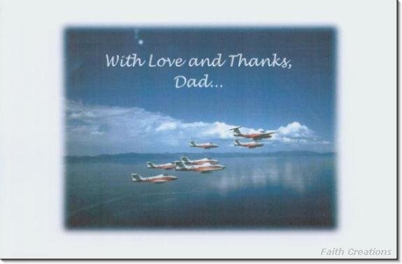 #MU0527 Happy Father's Day Greeting Card