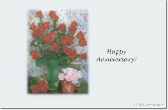 #M4U0139 Happy Anniversary Greeting Card