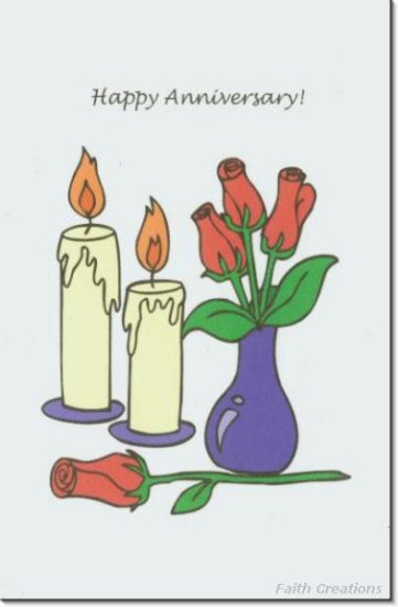 #M4U0297 Happy Anniversary Greeting Card
