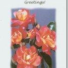 #M4U0492 Pink Yellow Flowers Inspirational Greeting Card