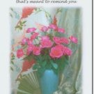 #M4U0428 Pink Roses Bouquet Recovery Greeting Card
