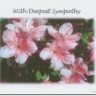 #M4U0157 Pink & White Flowers Sympathy Greeting Card