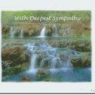 #M4U0477 Scenic View Waterfalls Sympathy Greeting Card