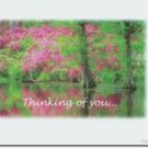 #M4U0134 Pink Flower Trees Thinking of You Greeting Card
