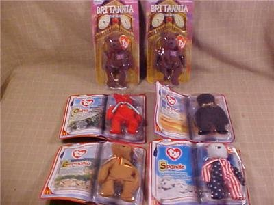 LOT OF McDONALD'S TY BEANIE BEARS ALL MIP