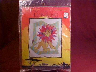 DISNEY LION KING COUNTED CROSS STITCH KIT NIP (SOLD)