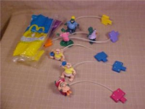 LOT OF 1992 DINOSAURS McDONALD'S HAPPY MEAL TOYS
