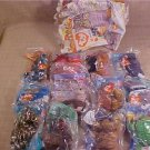 MIP lot of ty teenie beanie babies happy meal toys