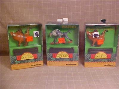 DISNEY THE LION KING FIGURINE STAMPER FEET & INK PAD