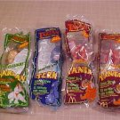 1999 LOT OF 4 NIP McDONALD&#39;S TARZAN SOUND STRAW
