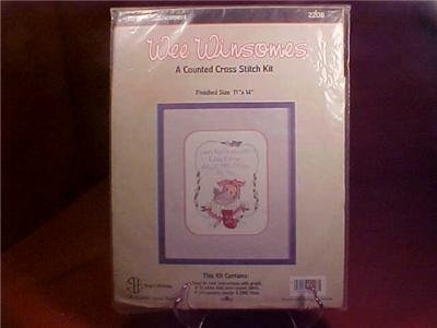 NIP WEE WINSOMES BIRTH ANNOUNCEMENT CROSS STITCH KIT