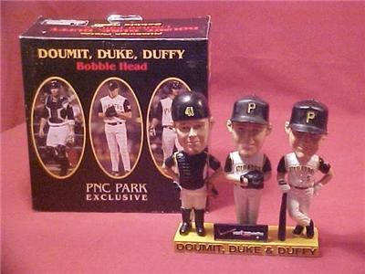 DOUMIT, DUKE & DUFFY TRIPLE BOBBLE HEAD PNC PARK NIB