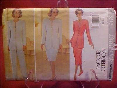 BUTTERICK SEWING PATTERN #3313 JACKET SKIRT PANTS UNCUT
