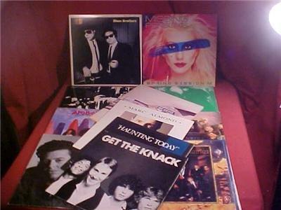 LOT OF 12 LP 33 RPM ALBUM RECORD ROCK & BLUES (SOLD)