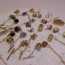 LOT OF VINTAGE PINBACK LAPEL PIN TIE-TAC GOLD & SILVER